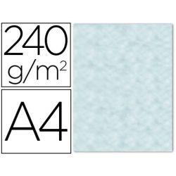 PAPEL COLOR LIDERPAPEL PERGAMINO CON BORDES A4 240G/M2 AZUL PACK DE 10 HOJAS
