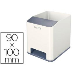CUBILETE PORTALAPICES LEITZ SOUND WOW BLANCO