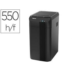 DESTRUCTORA DE DOCUMENTOS FELLOWES AUTOMAX 550C CAPACIDAD DE CORTE 550 H PARTICULAS DESTRUYE GRAPAS