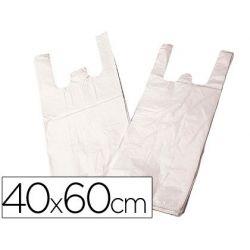 BOLSA PLASTICO CAMISETA BIODEGRADABLE 40 X 60
