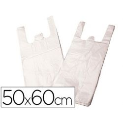 BOLSA PLASTICO CAMISETA BIODEGRADABLE 50 X 60