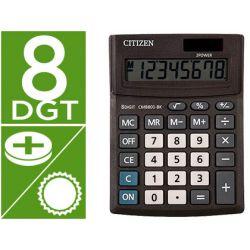 CALCULADORA CITIZEN SOBREMESA BUSINESS LINE ECO EFICIENTE SOLAR Y PILAS 8 DIGITOS 136X100X32 MM