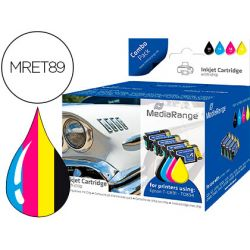 INK-JET MEDIARANGE COMPATIBLE EPSON T0891/T0894 MULTIPACK 5 UDS NEGRO(2)/AMARILLO/CIAN/MAGENTA