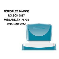 SELLO X-STAMPER QUIX PERSONALIZABLE COLOR NEGRO MEDIDAS 36X61 MM Q-16