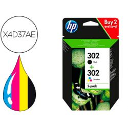 INK-JET HP 302 DESKJET 11XX / 21XX / 36XX ENVY 45XX / OFFICEJET 38XX / 46XX / 52XX PACK MULTICOLOR N