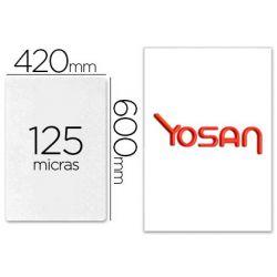 BOLSA DE PLASTIFICAR YOSAN BRILLO 420 X 600 MM 125 MC DIN A2 CAJA DE 100 UNIDADES
