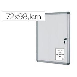 VITRINA DE ANUNCIOS BI-OFFICE FONDO MAGNETICO EXTRAPLANA DE INTERIOR 720X981 MM