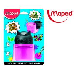 LIMPIADOR DE PINCELES MAPED COLOR PEPS 2 COMPARTIMENTOS SUPERHEROES