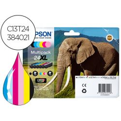 INK-JET EPSON 24 XL XP-55 / 750 /760 / 850 / 860 /950 / 960 MULTIPACK 6 COLORES ALTA CAPACIDAD