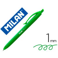 BOLIGRAFO MILAN P1 RETRACTIL 1 MM TOUCH VERDE