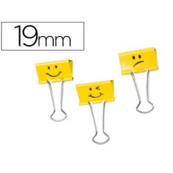 PINZA METALICA RAPESCO REVERSIBLE 19 MM EMOJIS AMARILLO