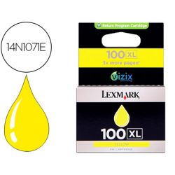 INK-JET LEXMARK 100XL PRO 205 / S305 / 405 / 505 / 605 / 815 AMARILLO 600 PAG