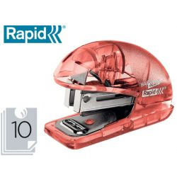 GRAPADORA RAPID MINI BABY RAY COLOUR ICE F4 CAPACIDAD 10 HOJAS USA GRAPAS 24/6 Y 26/6 COLOR ALBARICO