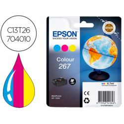 INK-JET EPSON T267 WF-100W TRICOLOR 200 PAGINAS