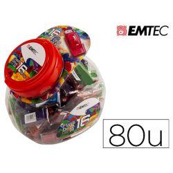 MEMORIA USB EMTEC FLASH 16GB 2.0 BOMBONERA 80 UNIDADES