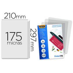 BOLSA DE PLASTIFICAR FELLOWES BRILLO DIN A4 175 MICRAS PACK 100 UNIDADES