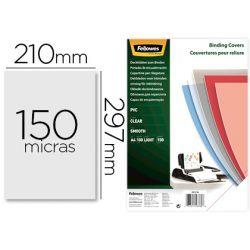 TAPA DE ENCUADERNACION FELLOWES DIN A4 PVC 150 MICRAS TRANSPARENTE PACK DE 100 UNIDADES
