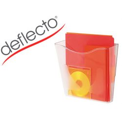 EXPOSITOR MURAL DEFLECTO DOCUPOCKETS CLASSIC DIN A4 VERTICAL TRANSPARENTE 265X260X100 MM