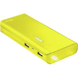 BATERIA AUXILIAR TRUST URBAN PRIMO PARA TABLETS Y MOVILES 10000 MAH COLOR AMARILLO