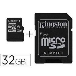 MEMORIA SD MICRO KINGSTON 32 GB CANVAS SELECT CLASE 10 CON ADAPTADOR