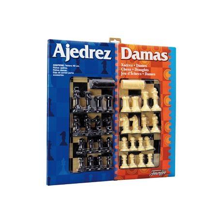 AJEDREZ CON DAMAS TABLERO GRANDE 41X40X4,6