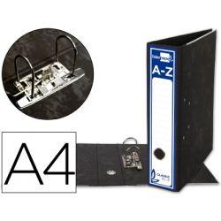 ARCHIVADOR DE PALANCA LIDERPAPEL A4 CLASSIC BLUE CARTON ENTRECOLADO SIN RADO LOMO 80MM NEGRO COMPRES
