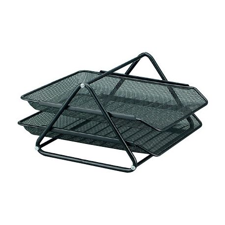 BANDEJA SOBREMESA METALICA Q-CONNECT REJILLA GXA100 NEGRA2 BANDEJAS MOVIBLES -300X185X350 MM