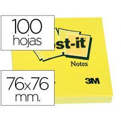 BLOC DE NOTAS ADHESIVAS QUITA Y PON POST-IT 76X76 MM CON 100HOJAS