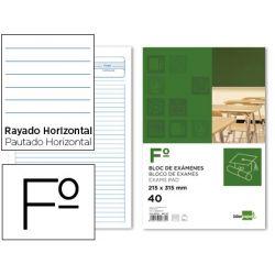 BLOC EXAMENES LIDERPAPEL FOLIO40 H 1 RAYA -HORIZONTAL