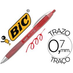 BOLIGRAFO BIC ATLANTIS ROJO RETRACTIL TINTA GEL PUNTA 1 MM