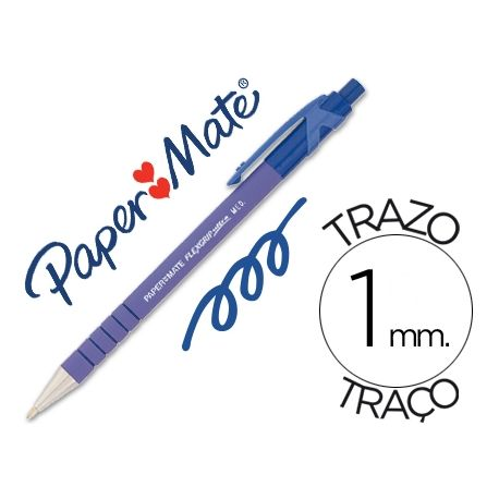 BOLIGRAFO FLEXGRIP RETRACTIL AZUL
