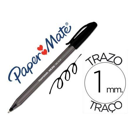 BOLIGRAFO PAPER MATE INKJOY 100 PUNTA MEDIA TRAZO 1MM NEGRO
