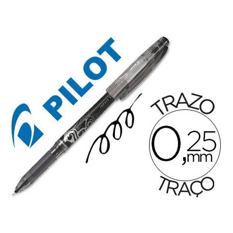 BOLIGRAFO PILOT FRIXION PUNTA DE AGUJA COLOR NEGRO