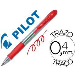 BOLIGRAFO PILOT SUPER GRIP ROJO RETRACTIL SUJECION DE CAUCHO TINTA BASE DE ACEITE