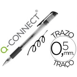 BOLIGRAFO Q-CONNECT TINTA GEL NEGRO 0.7 MM SUJECION DE CAUCHO