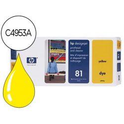 CABEZAL HP N.81 AMARILLO CON LIMPIADOR DE CABEZAL DESIGNJET 5000/5500