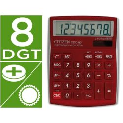 CALCULADORA CITIZEN SOBREMESA CDC-80 8 DIGITOS BURDEOS