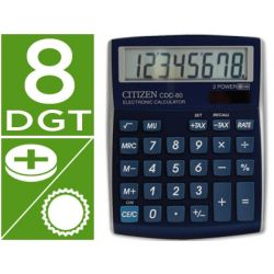 CALCULADORA CITIZEN SOBREMESA CDC-80 8 DIGITOS AZUL METAL