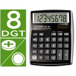 CALCULADORA CITIZEN SOBREMESA CDC-80 BKWB 8 DIGITOS NEGRA
