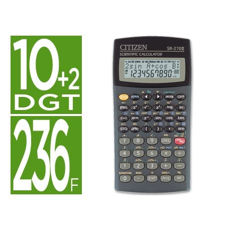 CALCULADORA CITIZEN CIENTIFICASR-270N 10+2 DIGITOS