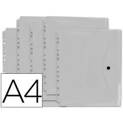 CARPETA LIDERPAPEL DOSSIER BROCHE 36664 POLIPROPILENO DIN A4 PACK DE 5 INCOLORAS TRANSPARENTES MULTI