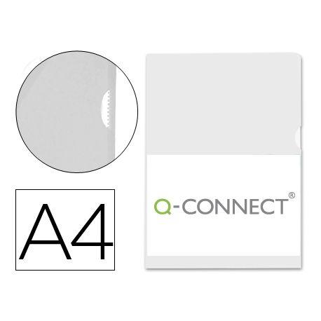 CARPETA DOSSIER U?ERO PLASTICOQ-CONNECT DIN A4 120 MICRAS TRANSPARENTE -BOLSA DE 10 UNIDADES