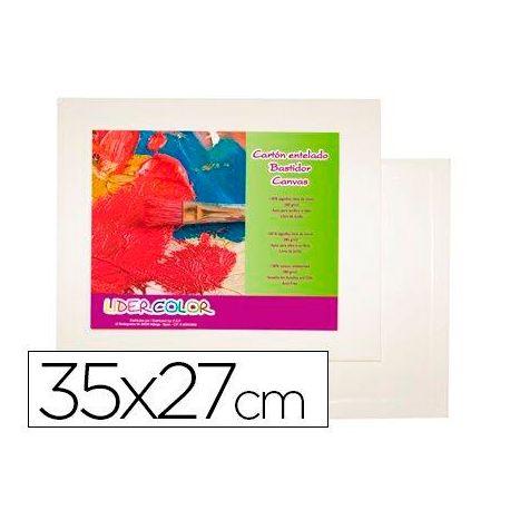 CARTON ENTELADO LIDERCOLOR 5F 35X27 CM PARA PINTURA AL OLEO Y ACRILICO
