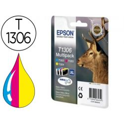 INK-JET EPSON STYLUS SX525WD/620FW OFFICE B42WD/BX320FW/525WD T1306 PACK TRICOLOR