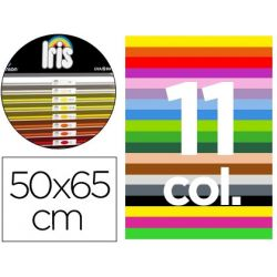 CARTULINA GUARRO 50X65 CONTENIDO A 50 HOJAS BLANCAS+ 25 HOJAS X11 COLORES 185GRS