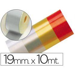 CINTA FANTASIA 10 MT X 19 MM PLATA