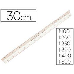 ESCALA FABER PLASTICO 153-B -1:100-200-250-300-400-500