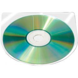 FUNDA AUTOADHESIVA PARA CD Q-CONNECT SIN SOLAPA PACK DE 10 UNIDADES