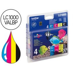 INK-JET BROTHER LC-1000 PACK NEGRO/CIAN/MAGENTA Y AMARILLO