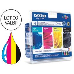 INK-JET BROTHER LC-1100VALBP /M/Y/C PACK 4 COLORES 450 PAGBK 325 PAG M/Y/C
